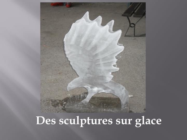 Des sculptures sur glace