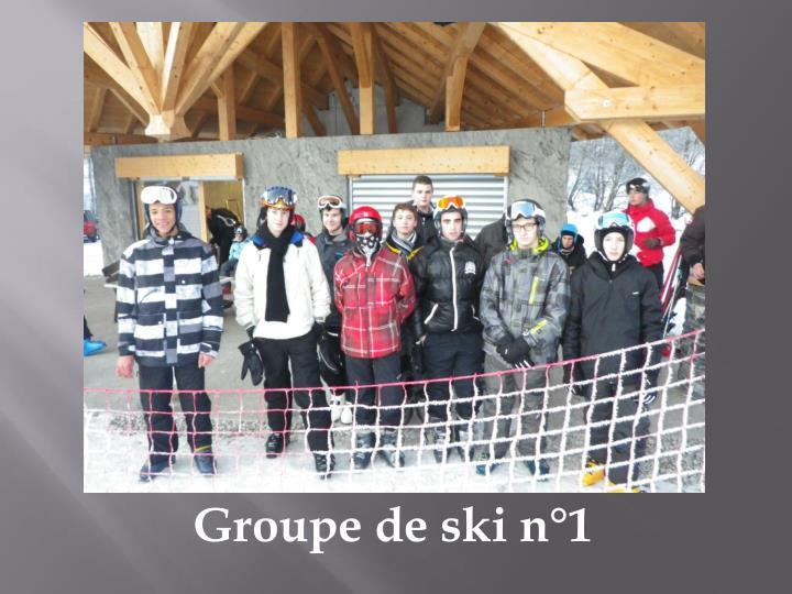 Groupe de ski n°1