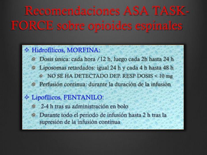 Recomendaciones ASA TASK-FORCE
