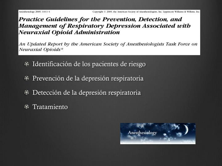 Identificación de los pacientes de riesgo