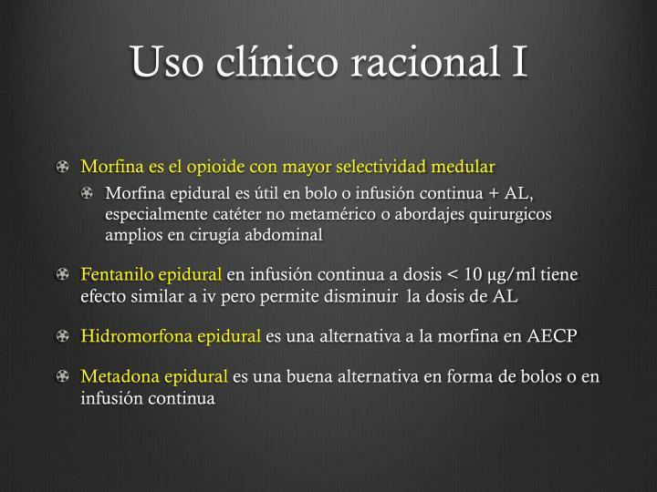Uso clínico racional I