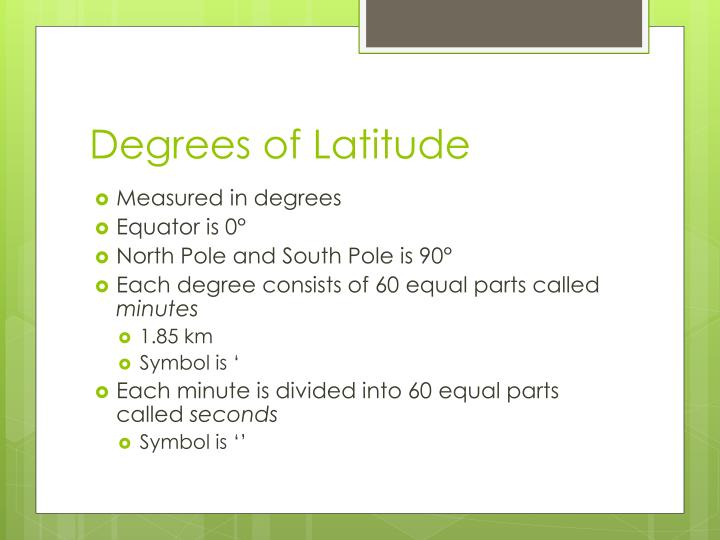 Degrees of Latitude