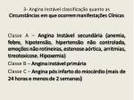 3 angina inst vel classifica o quanto as circunst ncias em que ocorrem manifesta es cl nicas