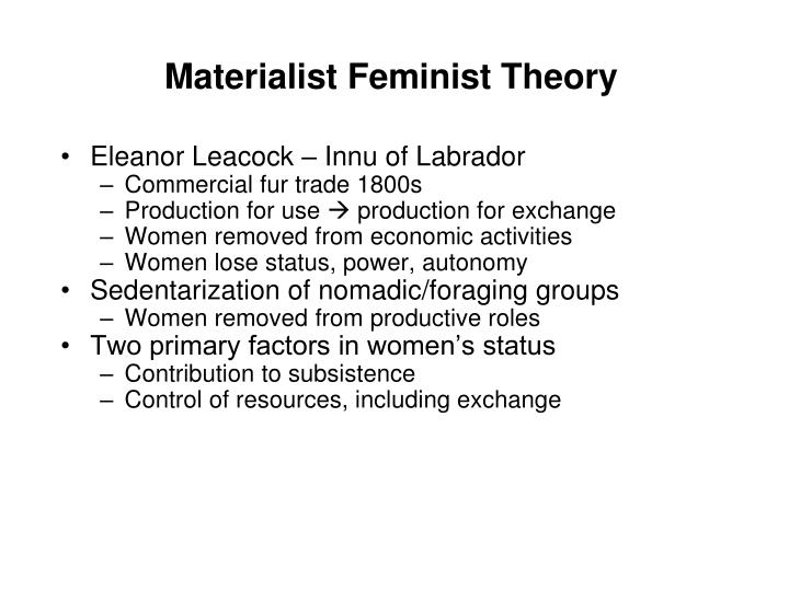 Materialist feminist theory