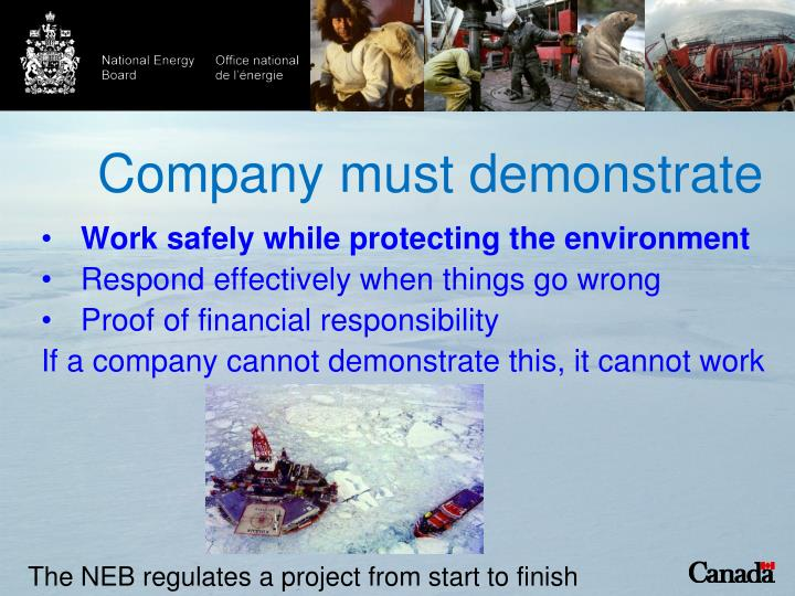 Company must demonstrate
