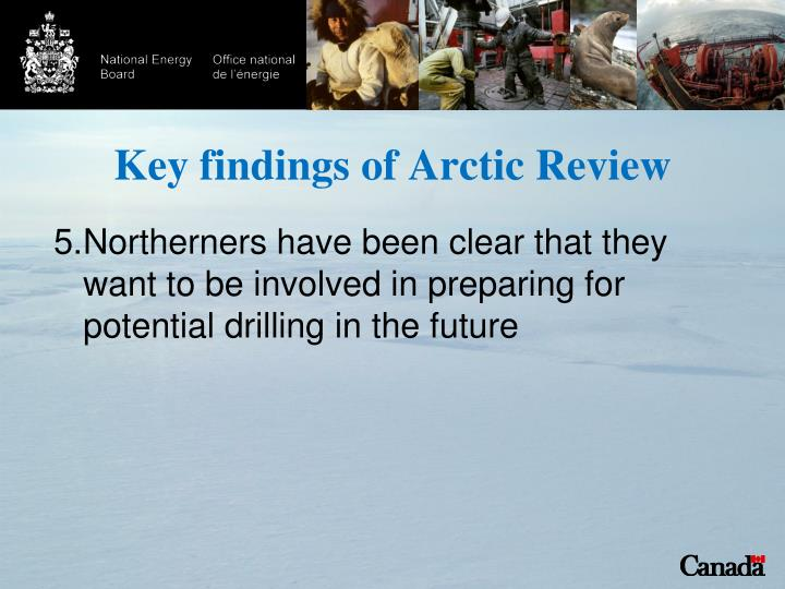 Key findings of Arctic Review