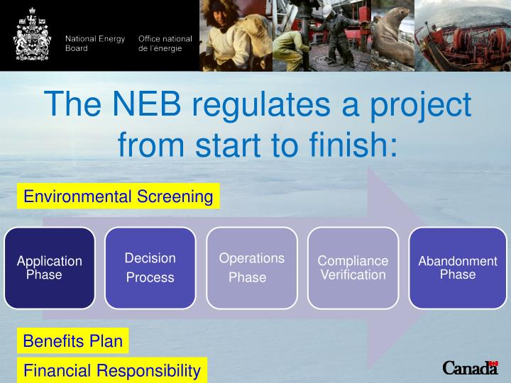 The NEB regulates a project