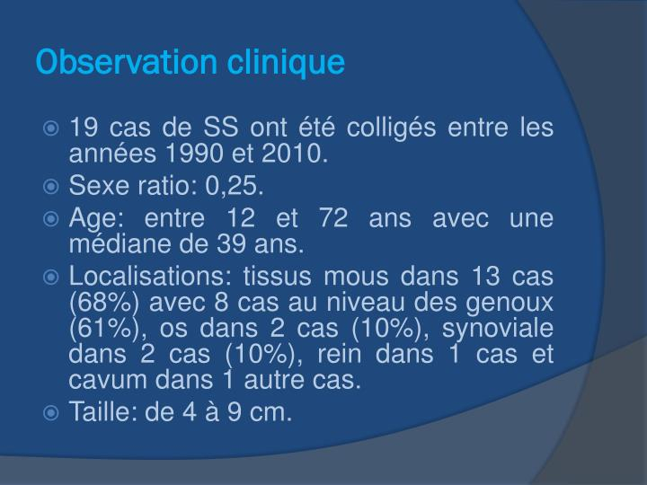Observation clinique