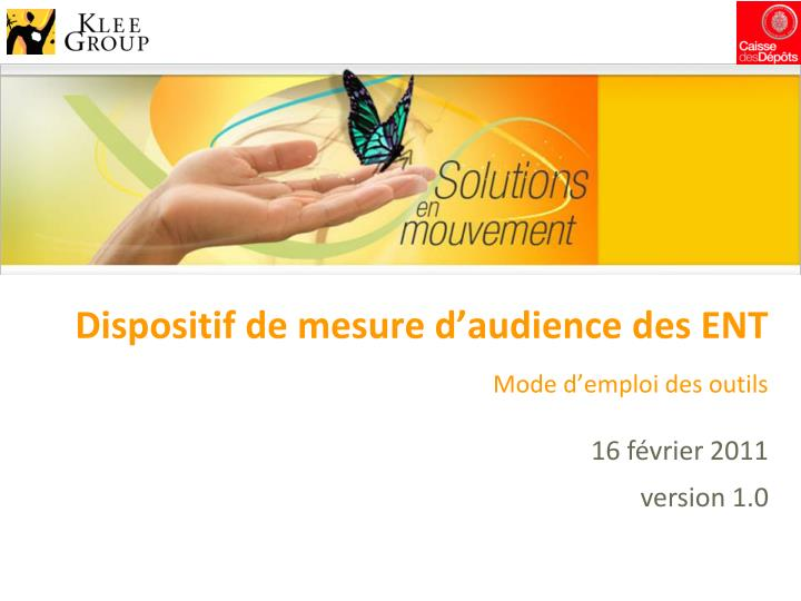 Dispositif de mesure d audience des ent
