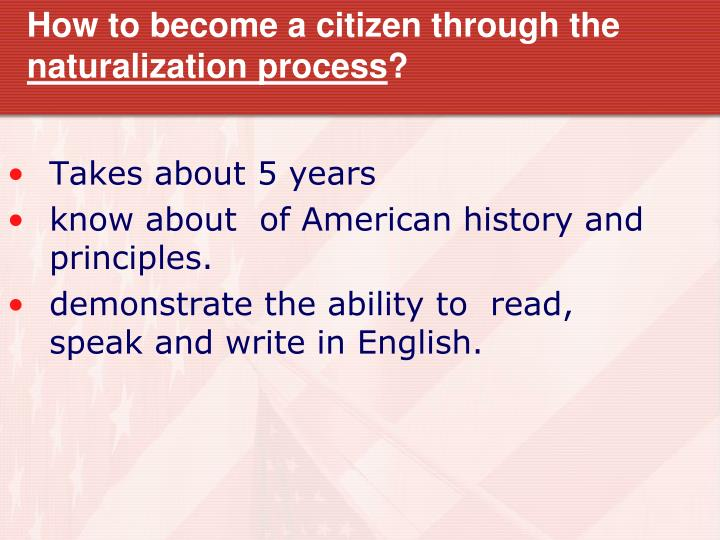 How to become a citizen through the