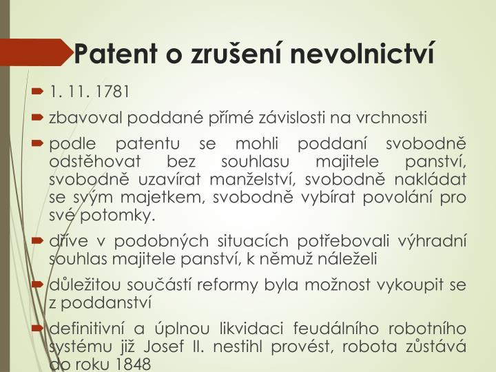 Patent o zrušení