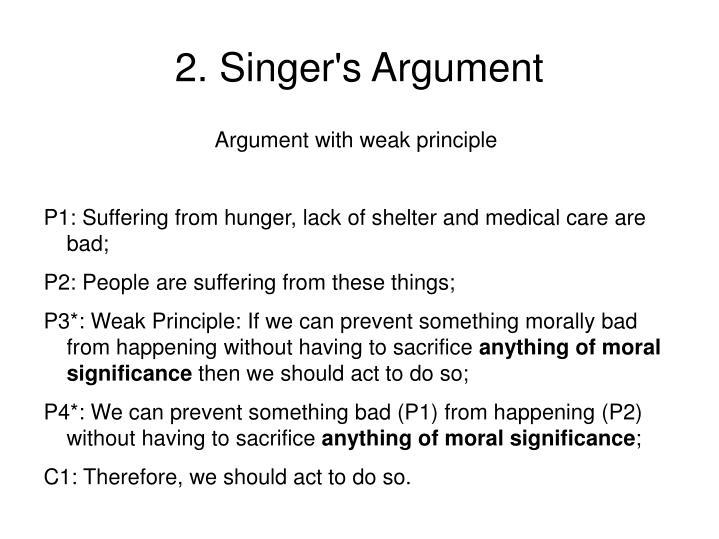 2. Singer's Argument