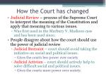 how the court has changed