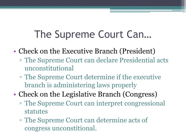 The Supreme Court Can…