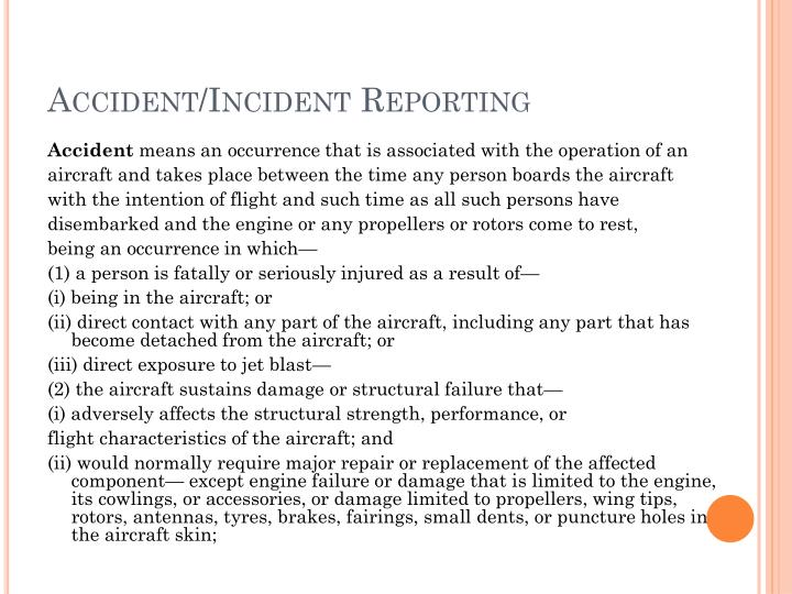 Accident/Incident Reporting