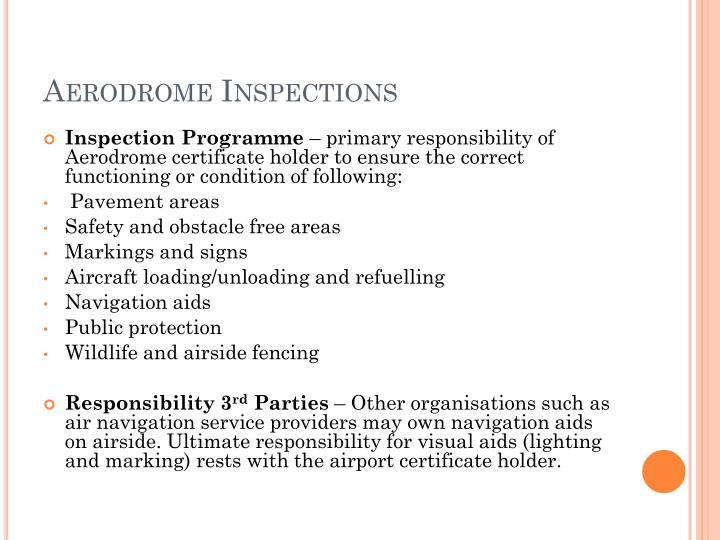 Aerodrome Inspections