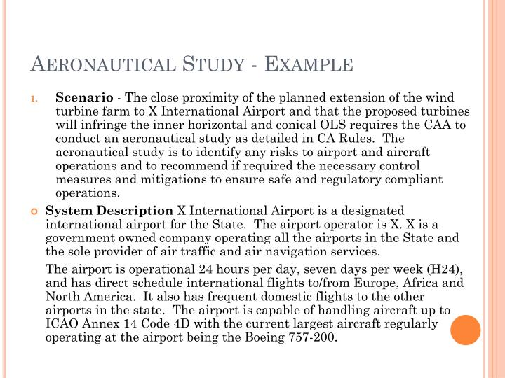 Aeronautical Study - Example