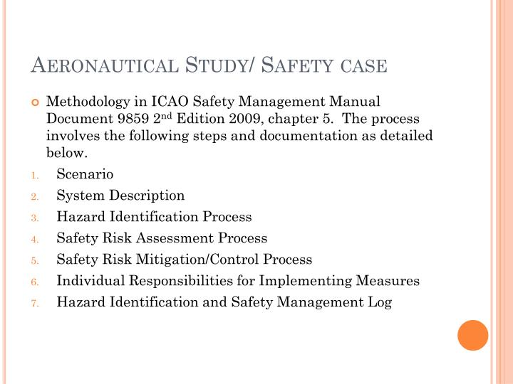 Aeronautical Study/ Safety case