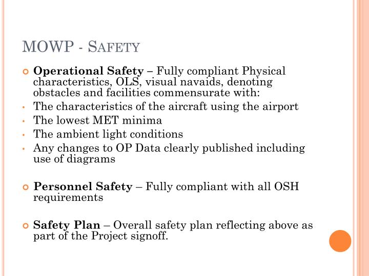 MOWP - Safety