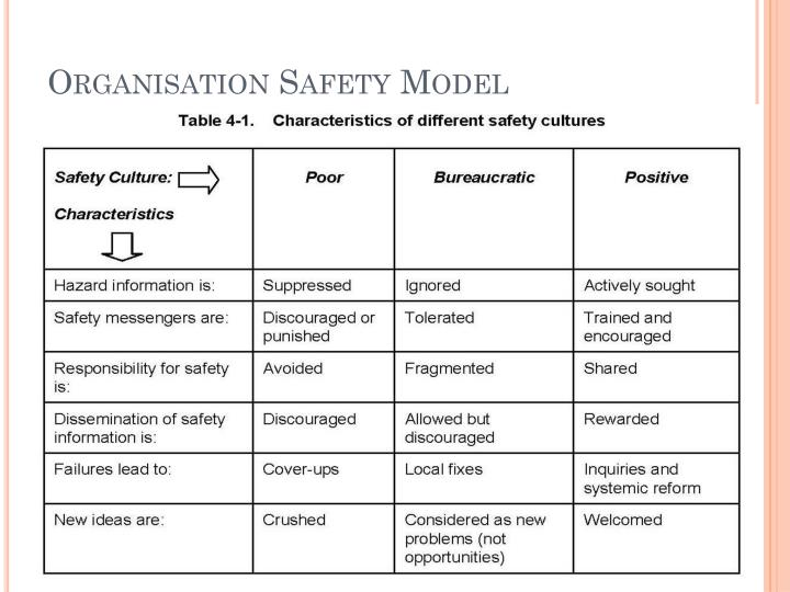 Organisation Safety Model