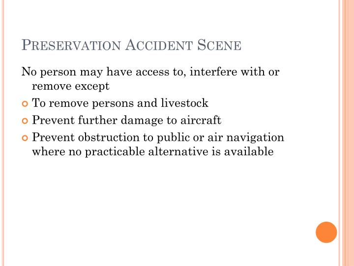 Preservation Accident Scene