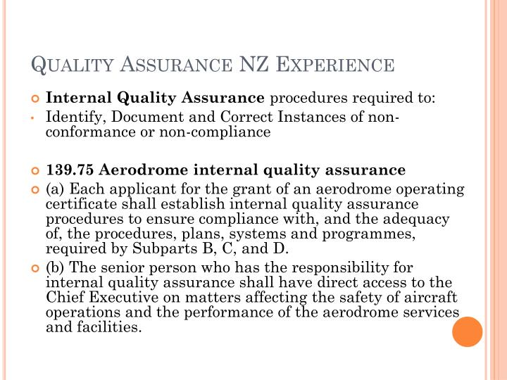 Quality Assurance NZ Experience