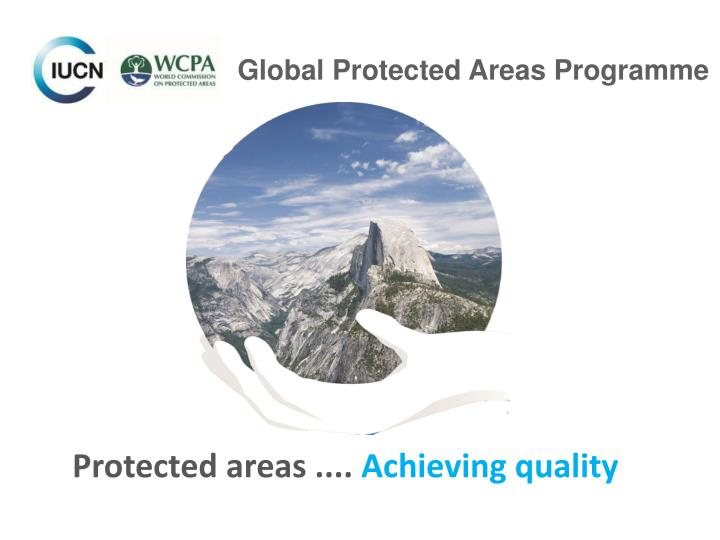 Protected areas ....