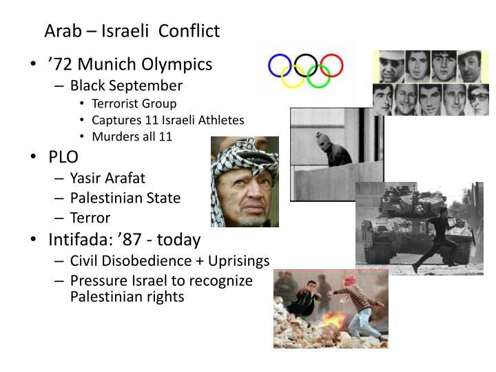 Arab – Israeli  Conflict