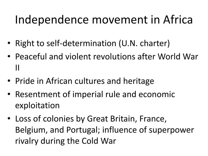 Independence movement in Africa
