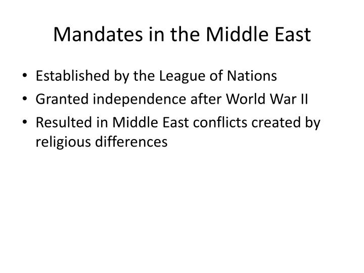 Mandates in the Middle East