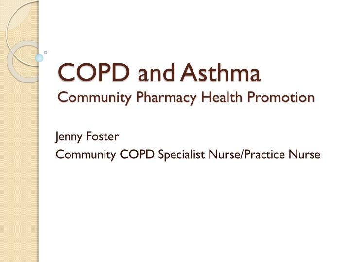 health promotion on copd Health promotion lung foundation australia has developed resources and for health professionals to promote lung health including the lung health checklist, awareness activities and.