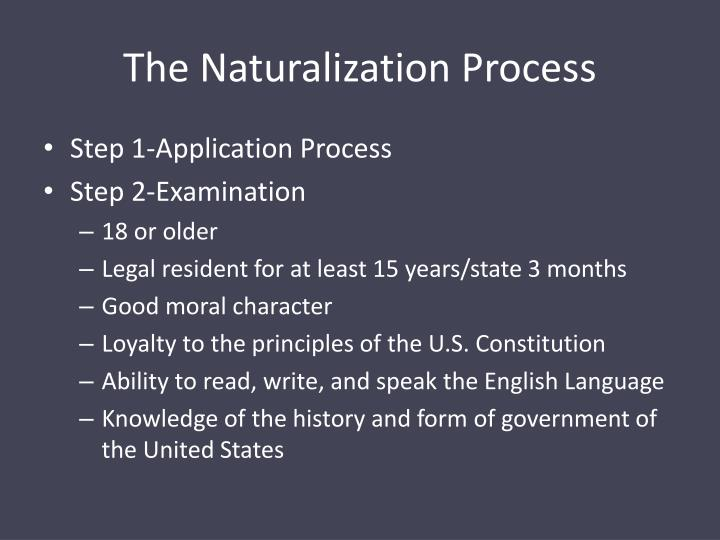 The Naturalization Process