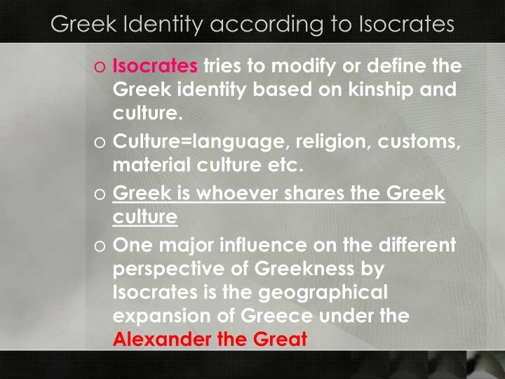 Greek Identity according to Isocrates