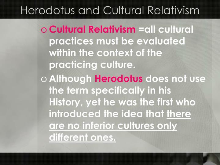 Herodotus and Cultural Relativism