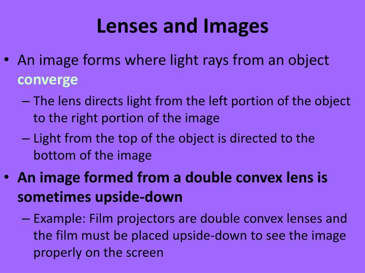 Lenses and Images