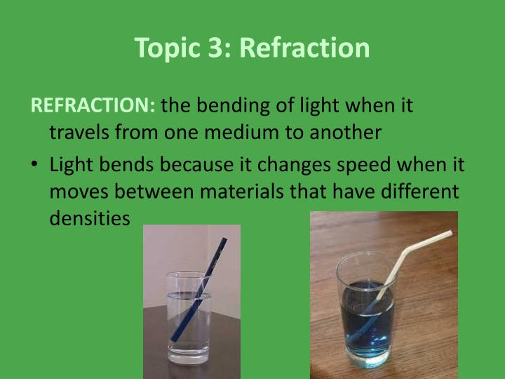 Topic 3: Refraction