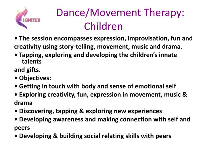 Dance/Movement Therapy: Children