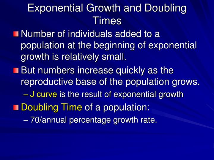 Exponential Growth and Doubling Times