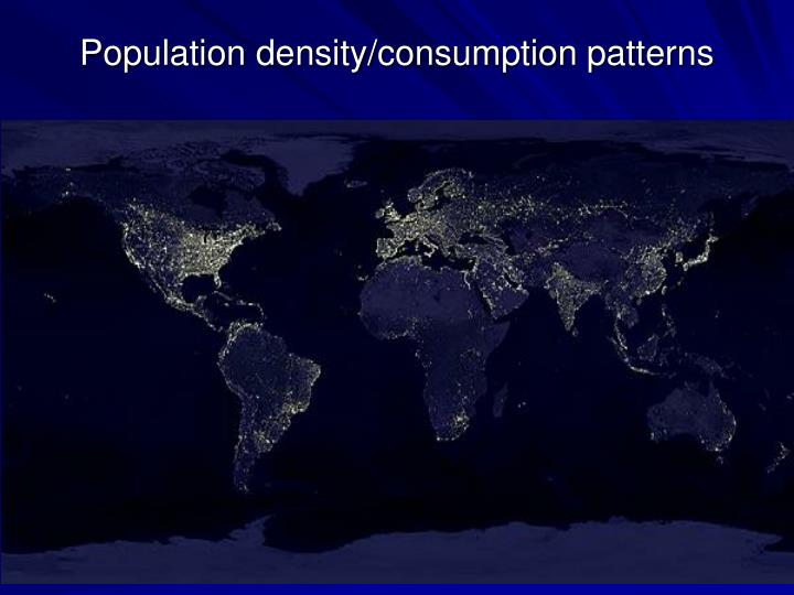 Population density consumption patterns
