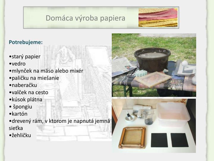 Domáca výroba papiera
