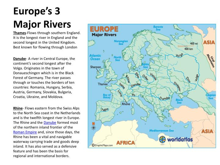 Europe's 3 Major Rivers