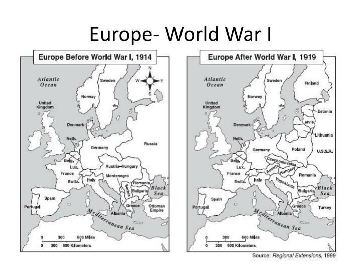 Europe- World War I