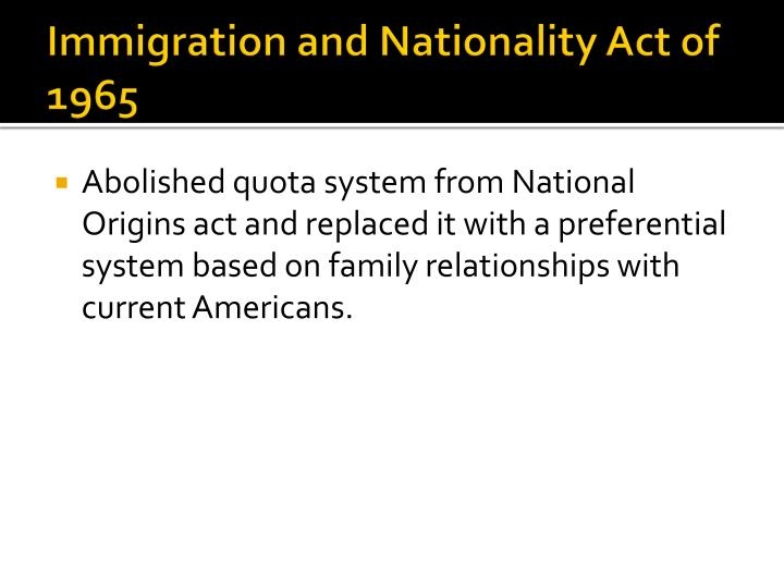 Immigration and Nationality Act of