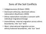 sons of the soil conflicts