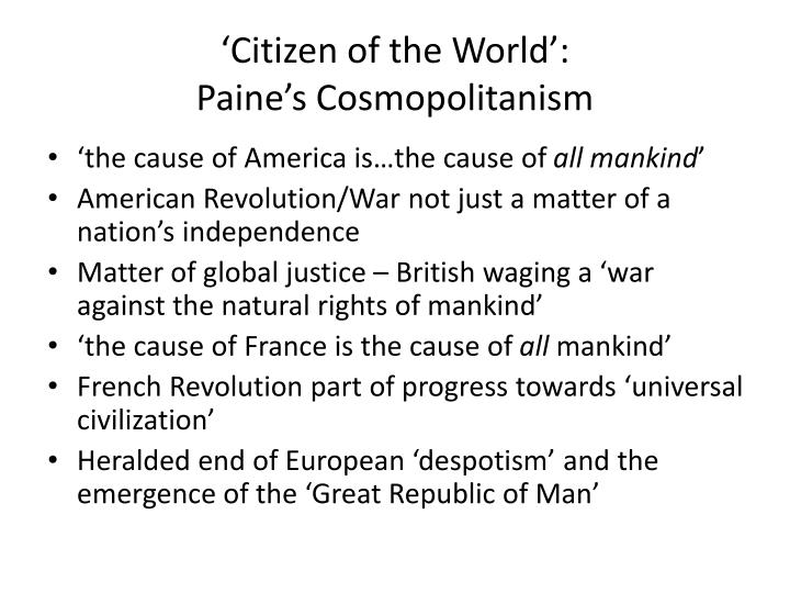 'Citizen of the World':