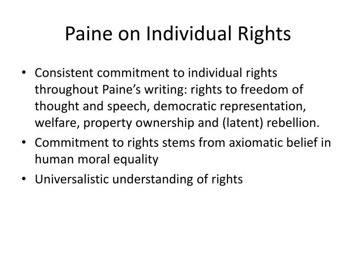 Paine on Individual Rights