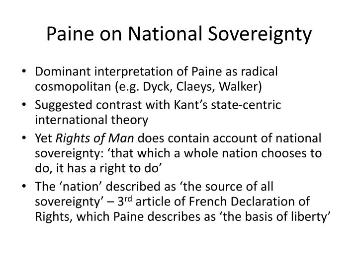 Paine on National Sovereignty
