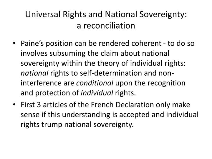 Universal Rights and National Sovereignty: