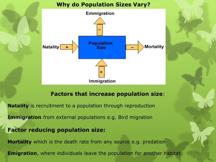 Why do Population Sizes Vary?