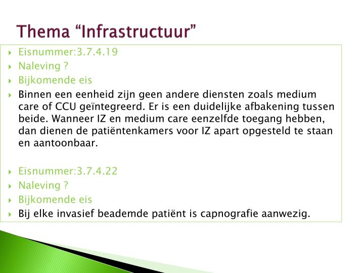 "Thema ""Infrastructuur"""